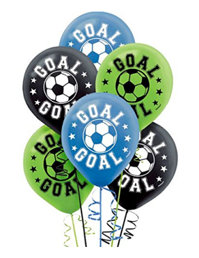 Soccer Latex Balloons 6ct