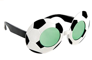 Soccer Ball Glasses
